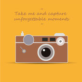 Vintage camera - Take me and capture unforgettable moments — Stock Vector