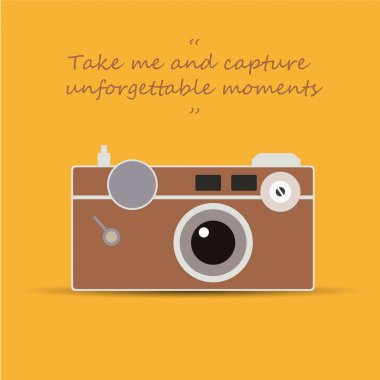 Vintage camera - Take me and capture unforgettable moments