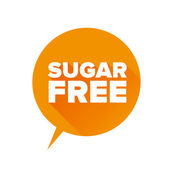 Sugar free Tag, Sticker or Badge For Healthy — Vettoriale Stock