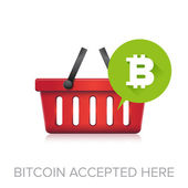 Bitcoin accepted here — Stock Vector