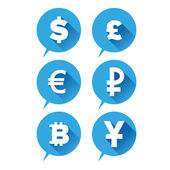 Money icon - Currencies sign blue — Stock Vector