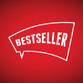 Bolha do discurso de Best-seller — Vetor de Stock