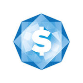 Money icon - dollar sign diamond — Stock Vector