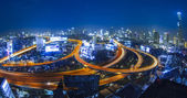 Bangkok city night view — Stok fotoğraf