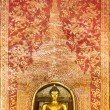the main buddha with golden thai pattern backgroung — Stock Photo