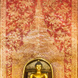 The Main Buddha with golden Thai pattern backgroung - Stok fotoğraf