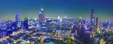 Bangkok city night view — Stockfoto