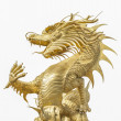 Giant golden Chinese dragon — Stock Photo #16793437