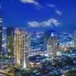 City town at night in Bangkok - Foto de Stock