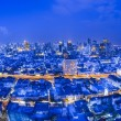 Bangkok city night view - Zdjęcie stockowe
