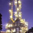 Oil refinery plant at twilight morning — Stock Photo #16798923