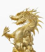 巨型金色中国龙 — 图库照片