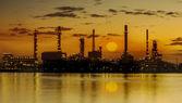 Raffinaderiet industrianläggning — Stockfoto