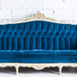 Stock Photo: Blue vintage sofa