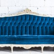 Blue vintage sofa — Stock Photo