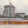 The annual longboat races  — Stockfoto