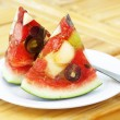 Mixed fruit watermelon - Stock Photo