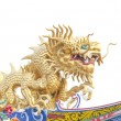 Stock Photo: Giant golden Chinese dragon for year 1212.