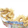 Giant golden Chinese dragon for year 1212. — Zdjęcie stockowe