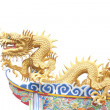 Giant golden Chinese dragon for year 1212. — ストック写真