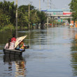 Waterflood disaster in Thailand - Stock Photo