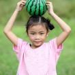 Stock Photo: Beautiful child with Watermelon
