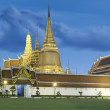 Wat phra kaeow front side - Stock Photo