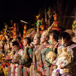 Khon -Thai classical masked ballet and Thai historical acting - Stok fotoğraf