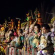 Khon -Thai classical masked ballet and Thai historical acting - Stock Photo