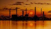 Planta industrial de la refinería — Foto de Stock