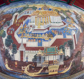 Masterpiece Ramayana painting in temple of emerald Buddha — Stock Photo
