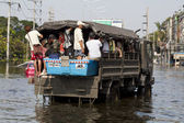 Waterflood disaster in Thailand — Stock Photo