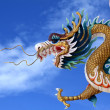 Giant golden Chinese dragon — Stock Photo #16825683