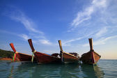 Long boat and lipe island — Stock Photo