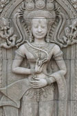 Apsara sculptures at Angkor Wat — Stock Photo