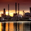 Landscape of river and oil refinery factory — Stock Photo #16833951