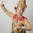 Portrait of Thai young lady in an ancient Thailand dance — Stock Photo #16837011