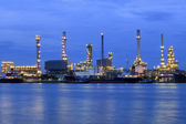 Landscape of river and oil refinery factory — Stock Photo