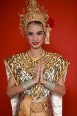 Portrait of Thai young lady in an ancient Thailand dance — Foto de Stock
