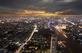 Landscape of Bangkok and the river with the Thai royel place — Foto de Stock