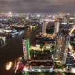 Bangkok city at twilight — Stock Photo