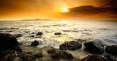 Sunset view point in Pataya beach — Stock Photo