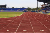 Track in stadium — Stock Photo