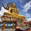 Big Buddha in Wat Phra Yai Temple — Stock Photo