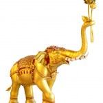 Ancient goldent elephant statue — Stock Photo