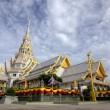 White church in Thai temple  — Stock Photo