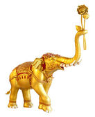 Ancient goldent elephant statue — Stock Photo