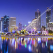 City town at night, Bangkok, Thailand - Stock Photo
