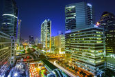 Bangkok city night view — Stockfoto