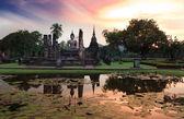 Main buddha Statue in Sukhothai historical park — Stock Photo